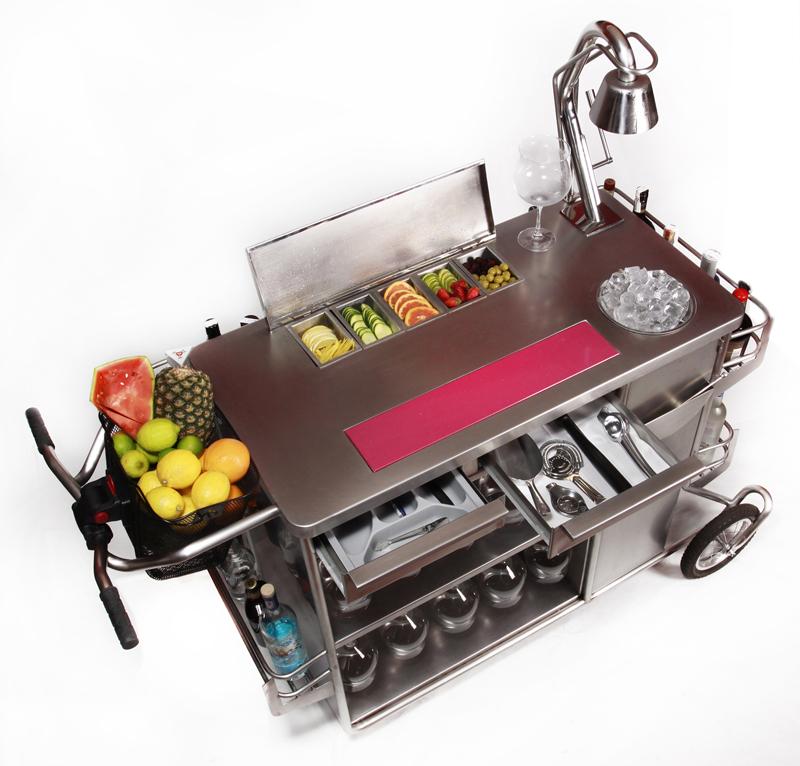 Exclusivo carrito para preparar c cteles de cocktail shop for Espejo hostelero