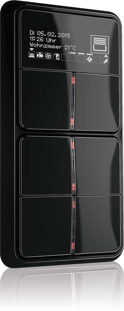 jung ampl a su serie de teclados f40 con knx oled equipamiento hostelero. Black Bedroom Furniture Sets. Home Design Ideas